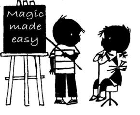 Magic made easy schoolbord Goochelaar Jan